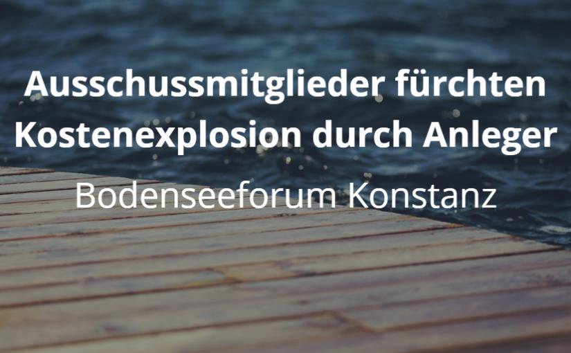 Bodenseeforum Konstanz: Was soll der Anlegesteg alles können?